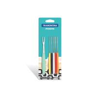Conjunto de garfos para petiscos tramontina ipanema com lâminas em aço