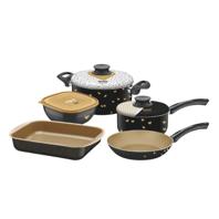 Kit para Cozinha Tramontina My Lovely Kitchen em Alumínio com Revestimento Interno Antiaderente Starflon T1 5 Peças