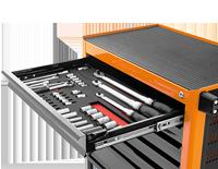 Escolha o organizador e as ferramentas
