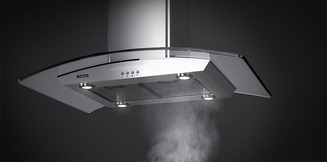 How to use the range hood's different speed settings