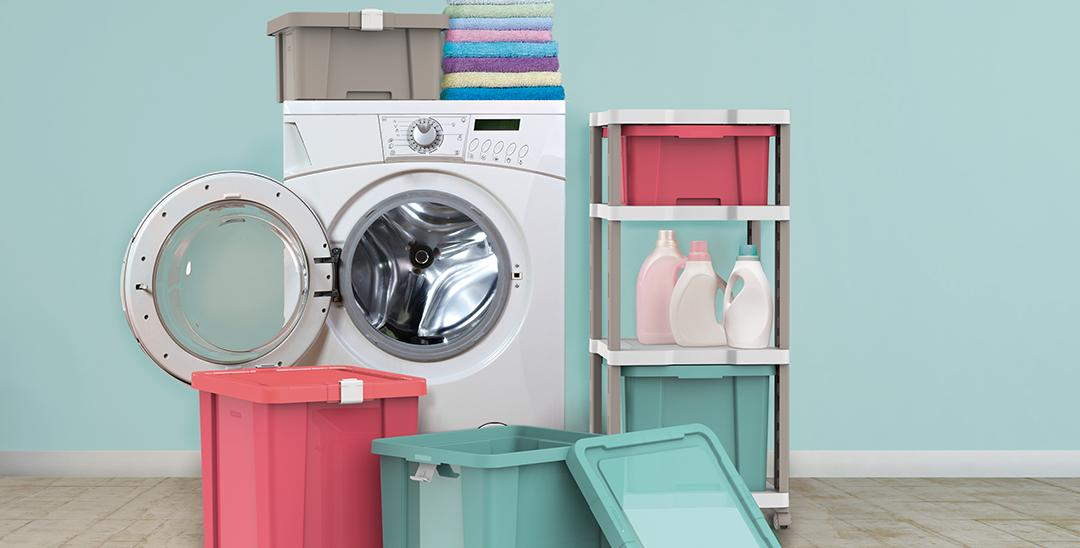 Como organizar uma lavanderia compacta