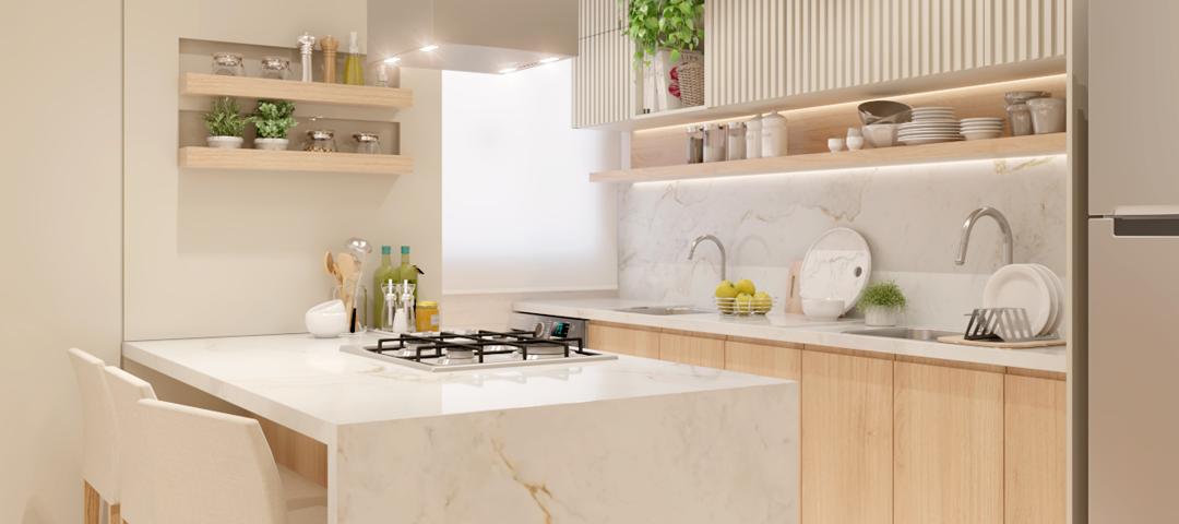 Cozinha integrada e compacta: dicas para ter um ambiente funcional em espaços menores