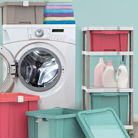 Cómo organizar una lavandería compacta