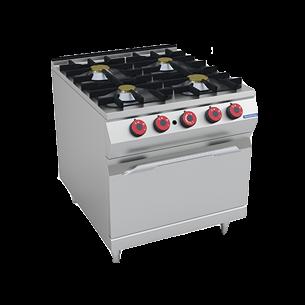 Cocina a gas 4 quemadores con horno a gas 800x950 mm