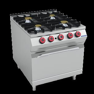 Burner Gas Range on Gas Oven