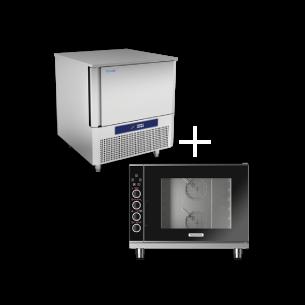 Forno combinado e Ultracongelador