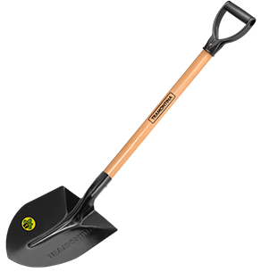 Shovel With Wood Handle