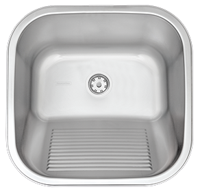 Satin Stainless Steel Inset Laundry Sink