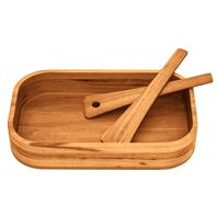 Barbecue Wooden Serving Dish 3 pcs.