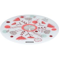 Tramontina 30 cm white tempered glass cake stand with colorful pattern