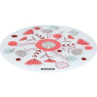 Tramontina 40 cm white tempered glass cake stand with colorful pattern