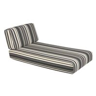 Upholstered seat and backrest BlackIllimani Duna Lounge Chaise