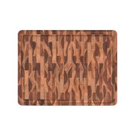 Tramontina Rectangular Barbecue Board in Inverted Teak Wood with Mineral Oil Finish 45x35 cm.