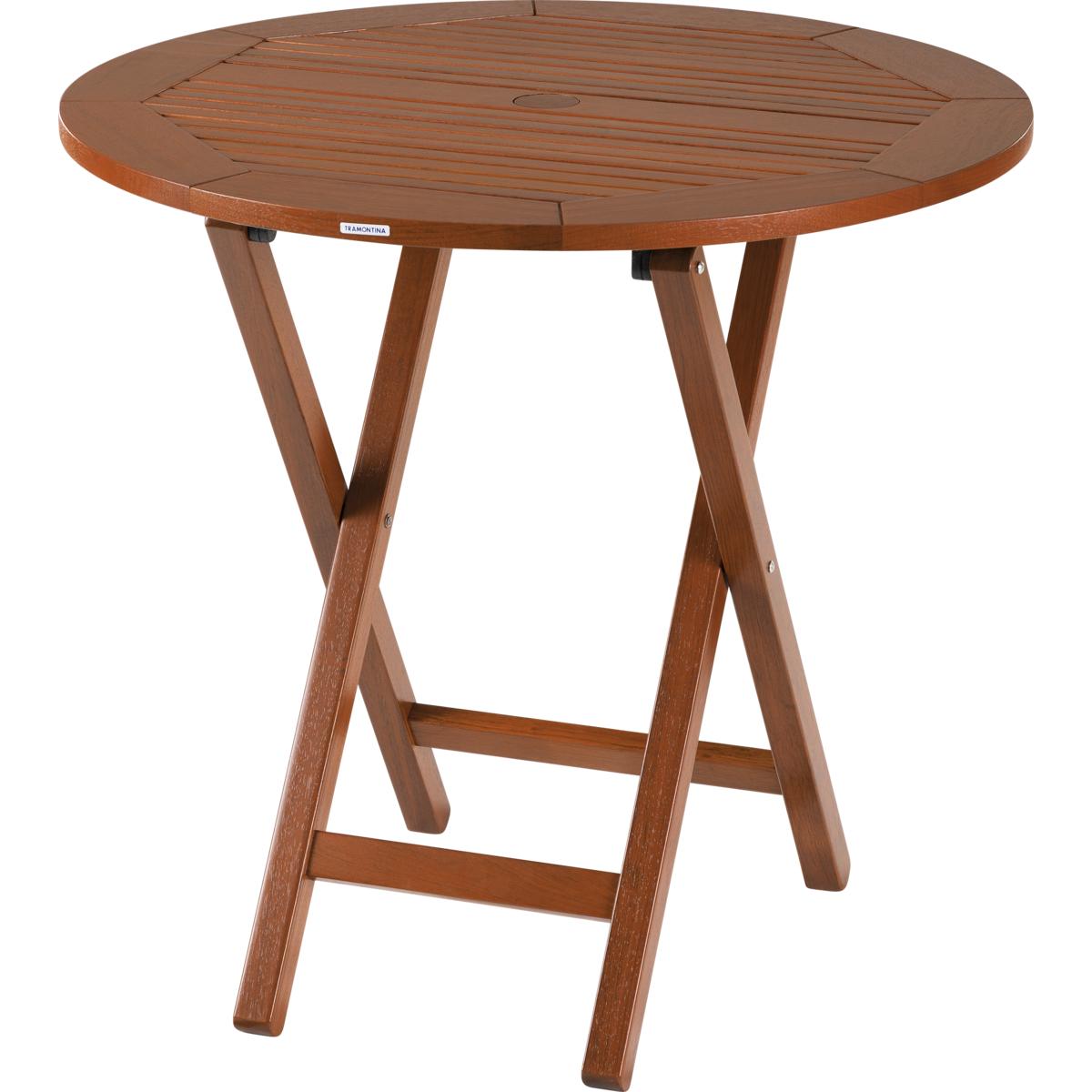 Tramontina mesa de madeira tramontina redonda dobr vel em jatob com acabamento eco blindage 4 - Mesas pequenas ...