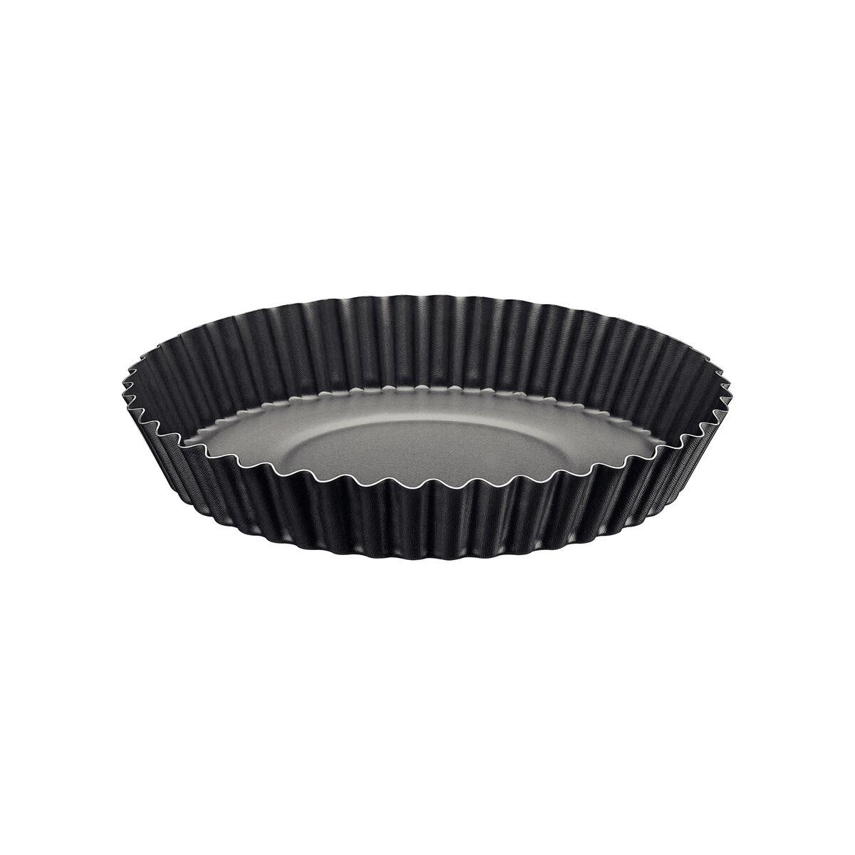 Tortera acanalada en aluminio con revestimiento interno en antiadherente Ø24cm