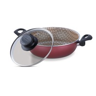 Aluminum skillet with lid with internal non-stick coating Ø24cm