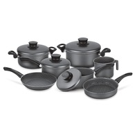 Aluminum cookware set with internal non-stick coating 7 pcs