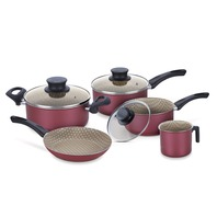 Aluminum cookware set with internal non-stick coating 5 pcs