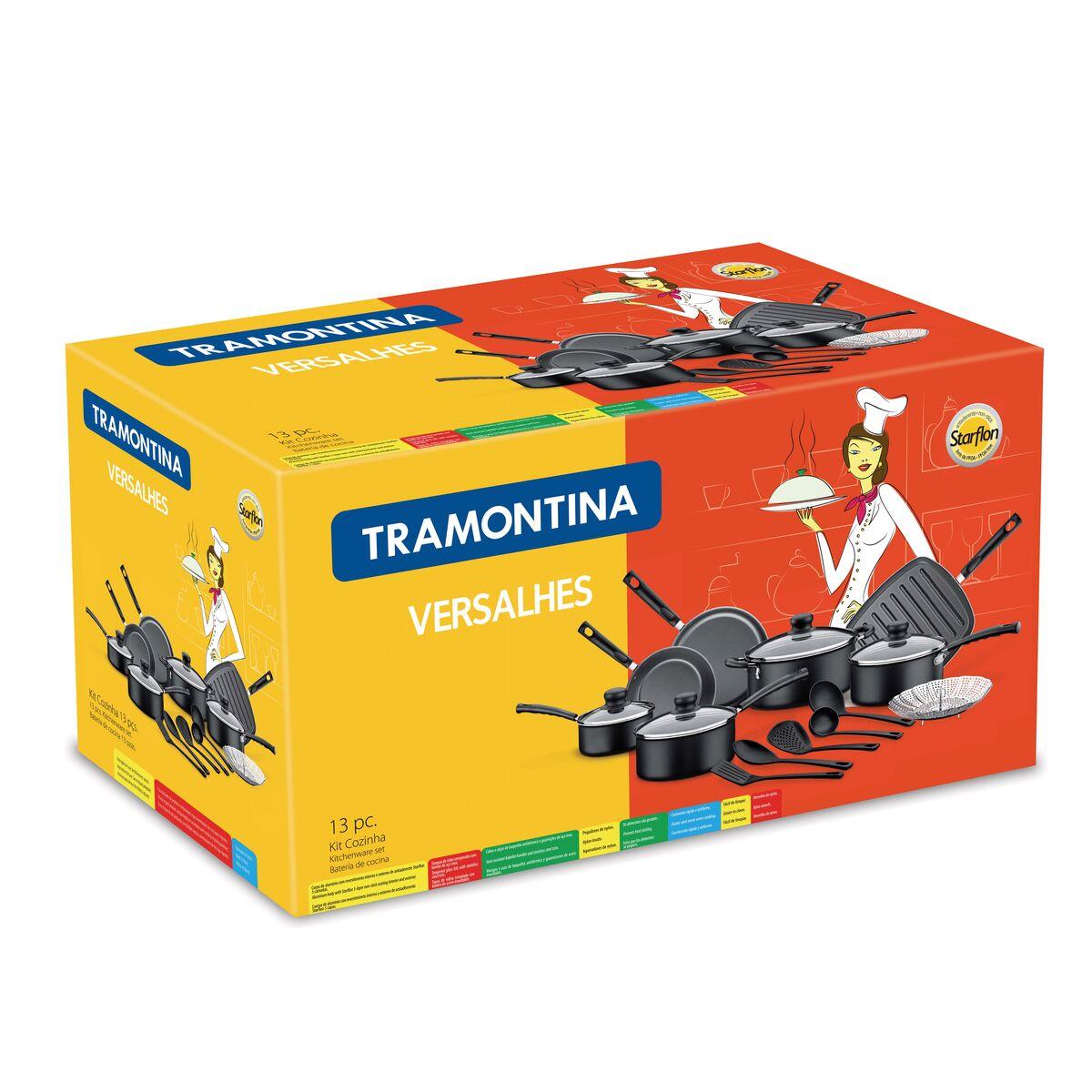 Tramontina - Aluminum cookware set with internal non-stick coating ...