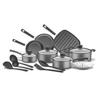 Kit para cozinha de alumínio com revestimento interno de antiaderente 13 peças
