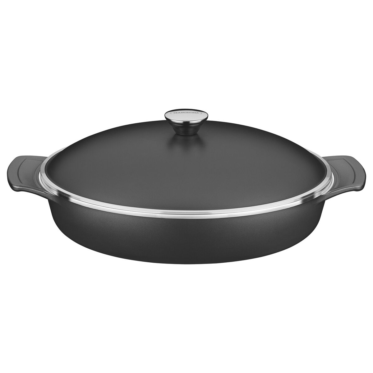 Aluminum with internal nonstick coating frying pan with lid Ø32cm