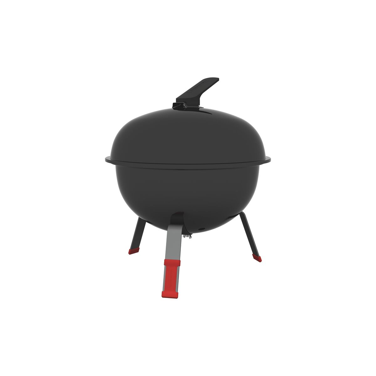 Tramontina TCP-320L charcoal grill with enameled steel lid and stainless steel grate and utensils
