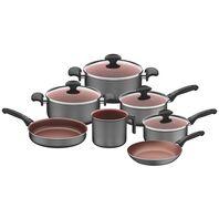7 pcs Aluminum cookware set with internal non-stick coating