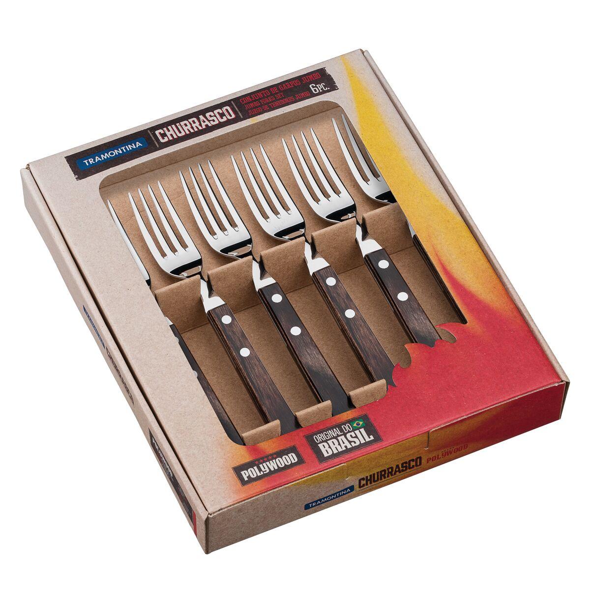Jumbo forks set 6 pcs