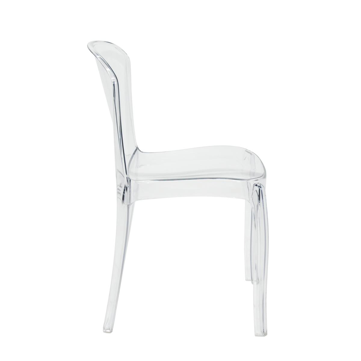 Tramontina anna silla de policarbonato transparente - Sillas policarbonato transparente ...