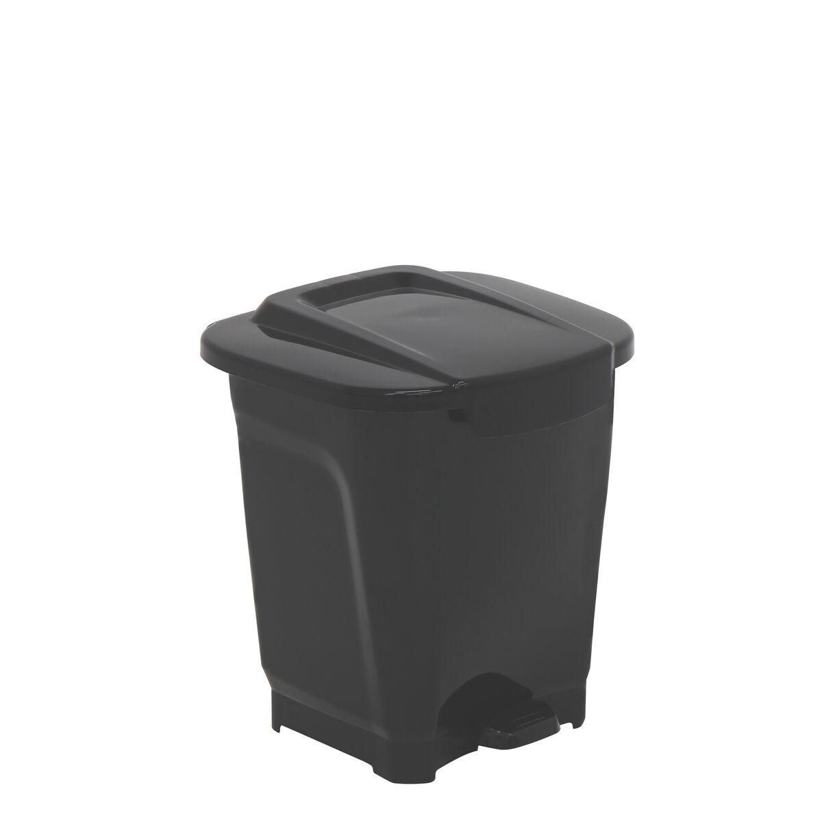 Tramontina T-Force Black Polypropylene Trash Can 15L