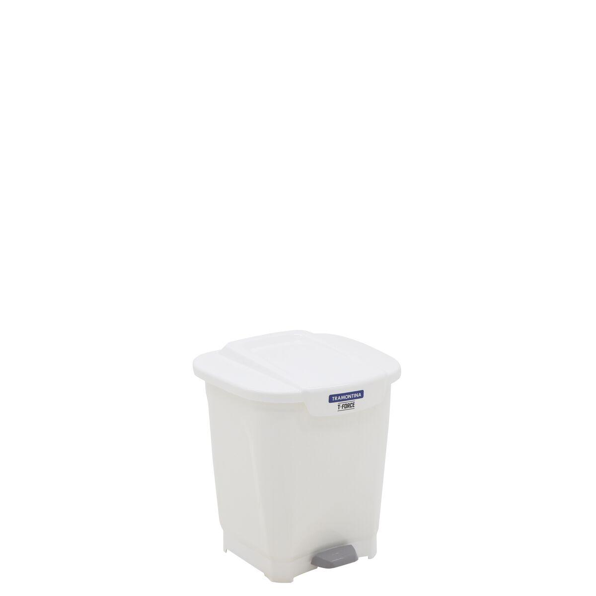 Tramontina T-Force White Polypropylene Trash Can 15L