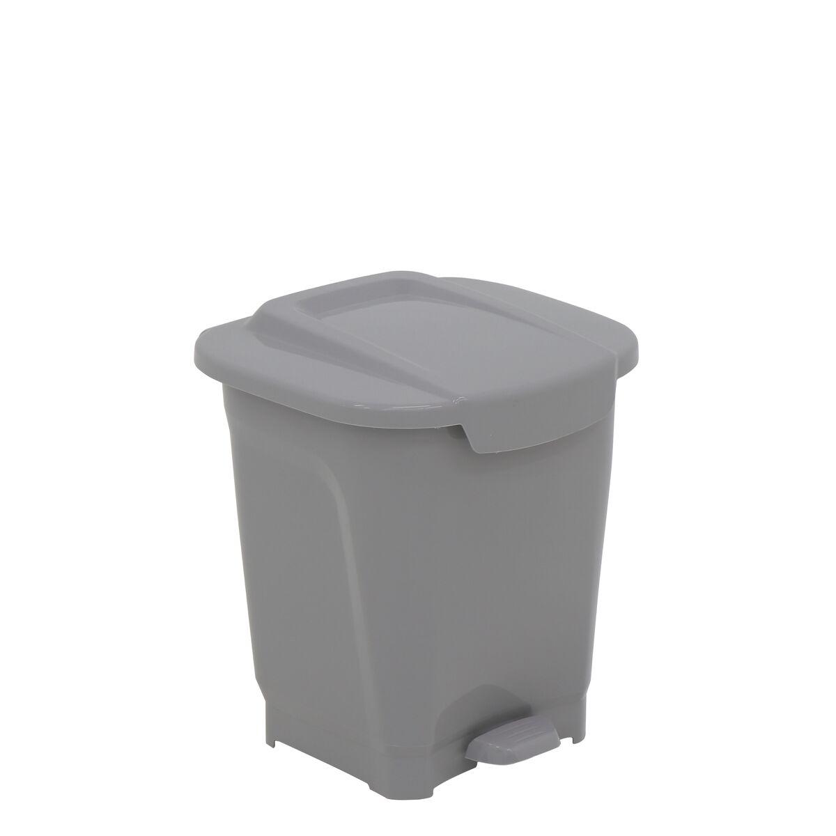 Tramontina T-Force Gray Polypropylene Trash Can 15L