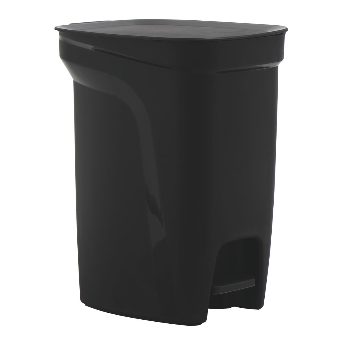 Tramontina Compact Black Polypropylene Compact Trash Can with a Galvanized Steel Rod 10L