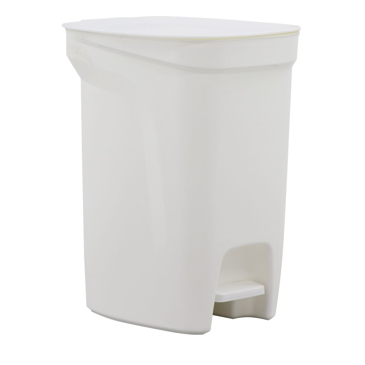 Tramontina Compact White Polypropylene Compact Trash Can with a Galvanized Steel Rod 10L