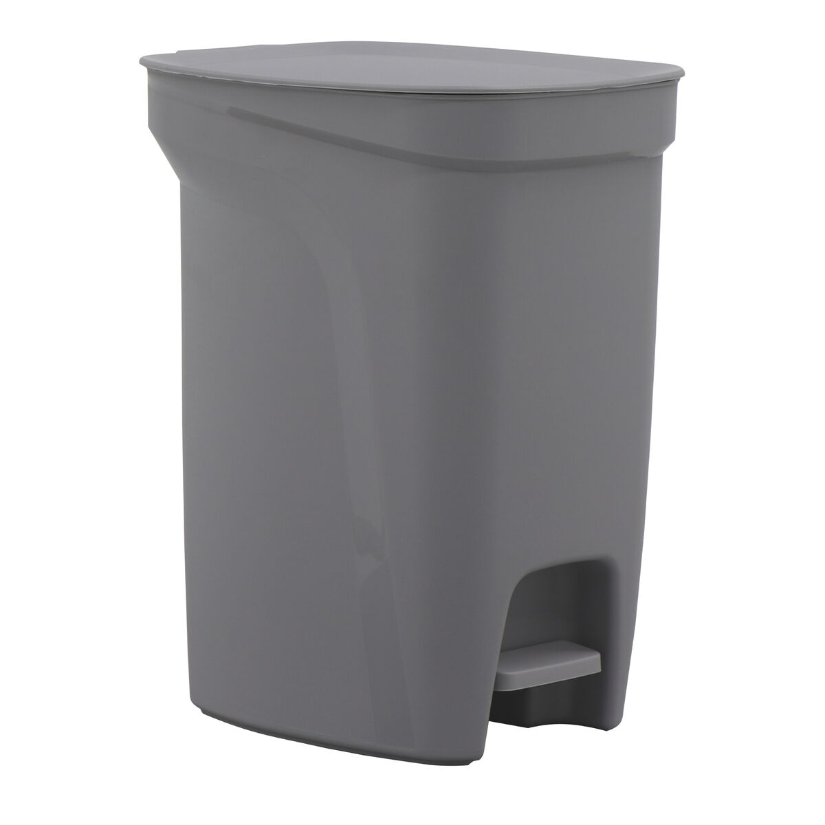 Tramontina Compact Gray Polypropylene Compact Trash Can with a Galvanized Steel Rod 10L