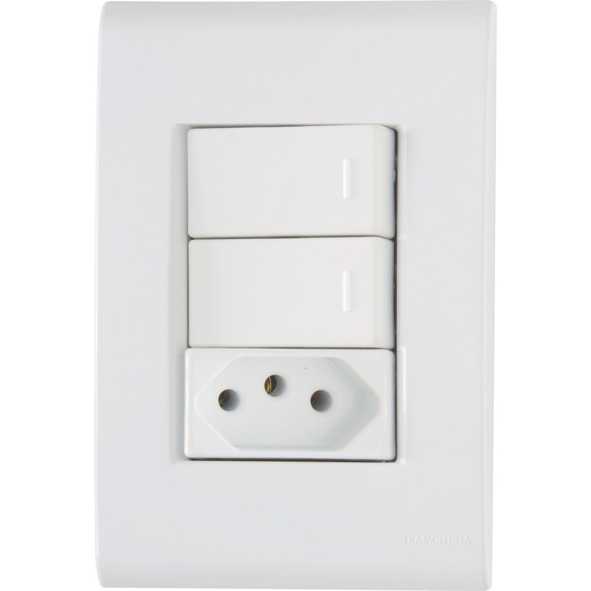 Tramontina - Set 4X2 - 2 two way switch +1 outlet 2P+T 20A 250V~