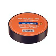 Tramontina black electrical tape 5 m 0.18x19 mm
