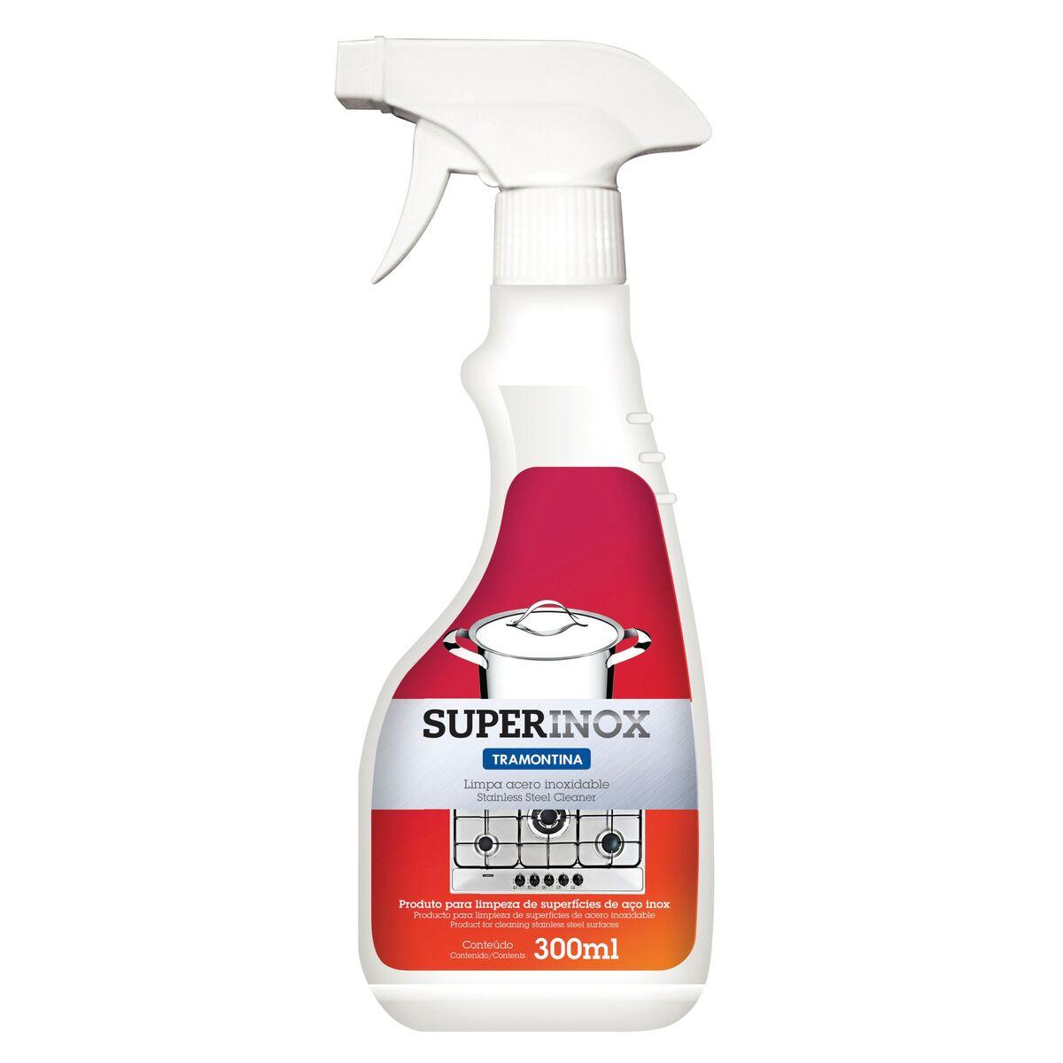 Spray Tramontina de 300 ml para pulir y remover manchas del acero inoxidable