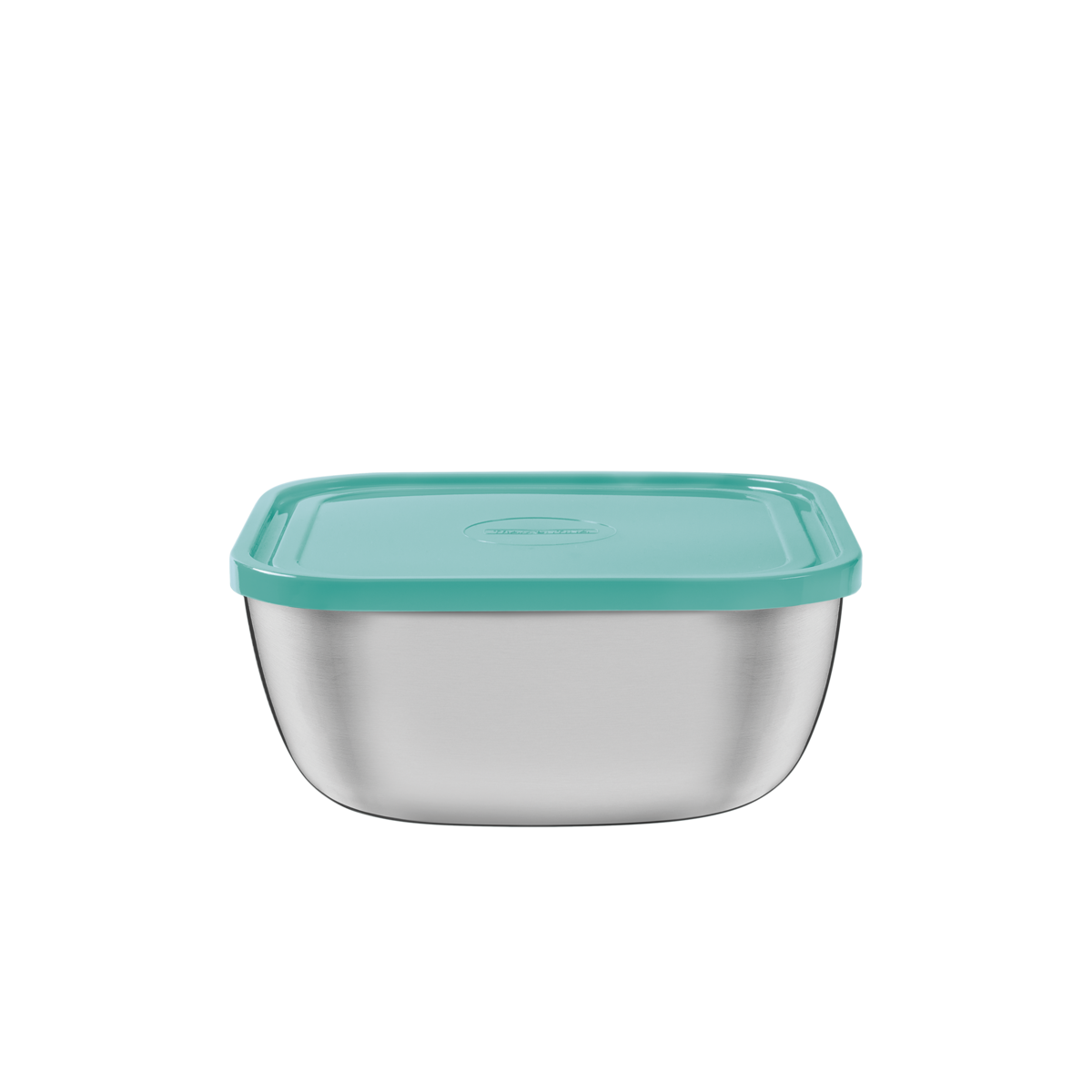 Tramontina - Stainless steel square container with green plastic lid ...