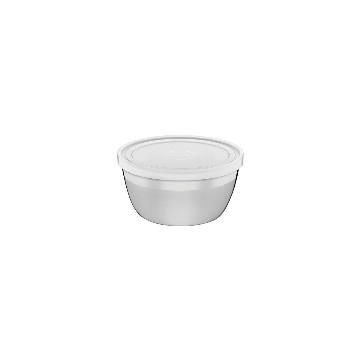 Recipiente redondo Freezinox de acero inoxidable con tapa plástica de 0,3 l y 9 cm Tramontina