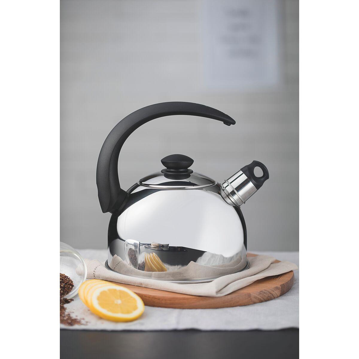 2 l inducci/ón N//Y Tetera con Silbato de Acero Inoxidable para Estufa con Mango Resistente al Calor Rosa aplicable a Gas el/éctrica