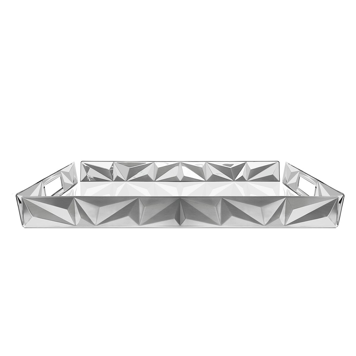 Tramontina Prisma rectangular stainless steel tray, 52 cm