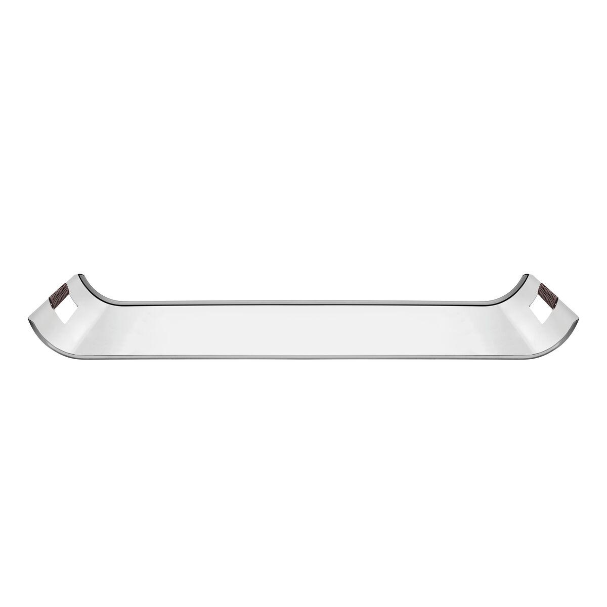 Tramontina Quadrata 51x36 cm rectangular stainless steel tray with polyethylene handles