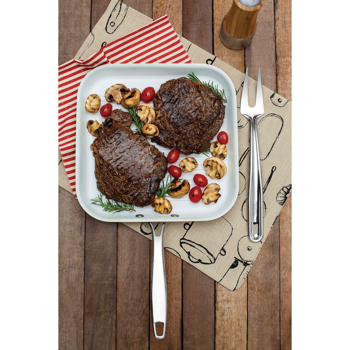 Tramontina plancha acero inoxidable con revestimiento for Revestimiento ceramico cocina