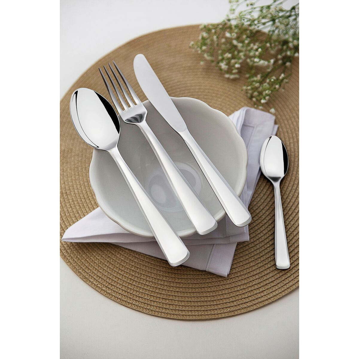 Tramontina - 72 pc. Stainless steel flatware set with table knife