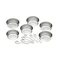 12 pc. stainless steel dessert set