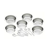 12 pc. stainless steel dessert set