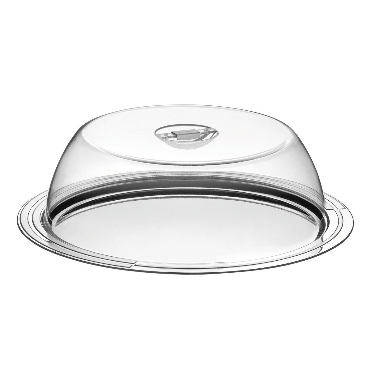 Tramontina Ciclo 33 cm stainless steel cake dish with dome cover