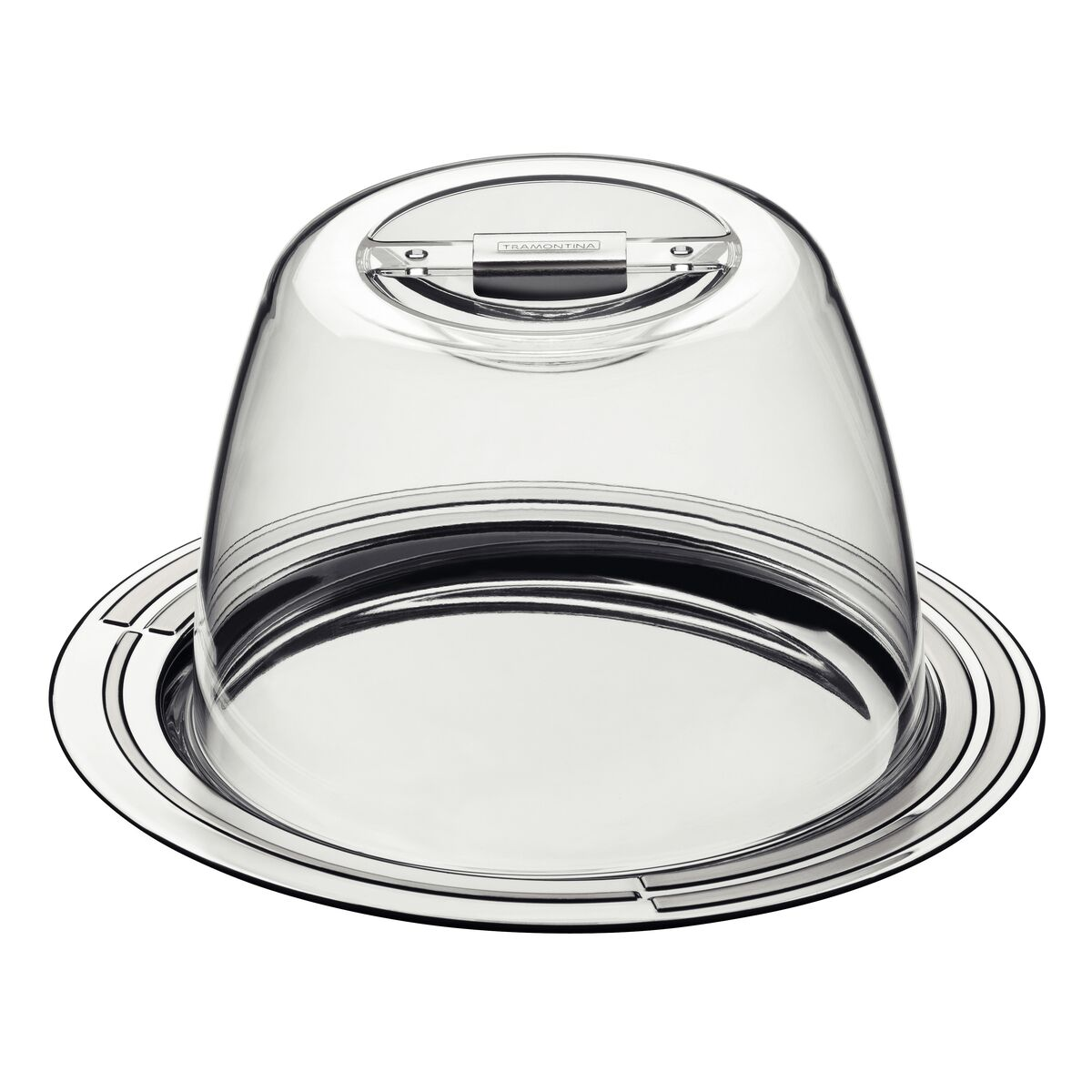 Tramontina Ciclo stainless steel cheese set, 20 cm, 2 pc set