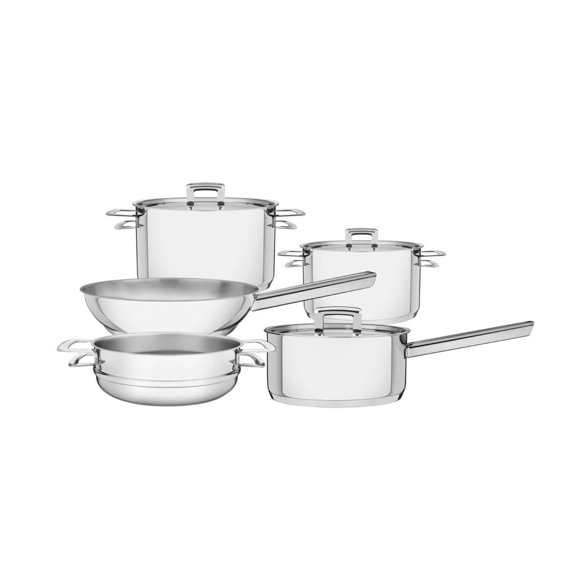 Tramontina - Batería de cocina acero inoxidable con fondo triple 5 pzas.